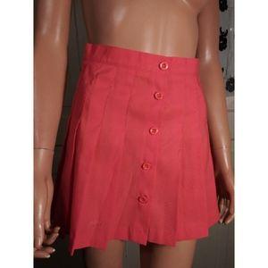 Prince tennis skirt pleated mini coral orange pink